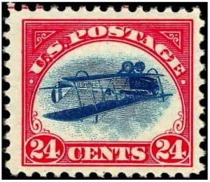 Inverted jenny francobollo raro