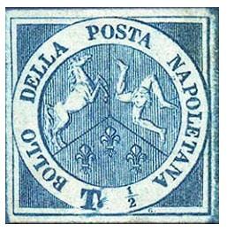 francobollo raro garibaldino mezzo tornese