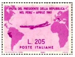 gronchi rosa francobollo raro talia