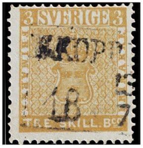 treskilling yellow francobollo raro